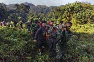 Tourist rescued after THREE DAYS in a ravine. At least 60 people, including soldiers, were involved in an operation to rescue an injured
