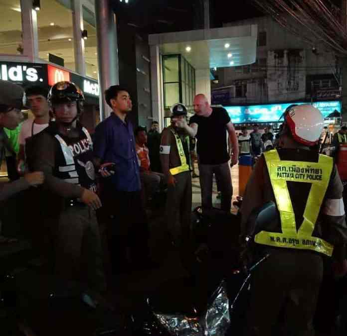 Foreign Tourist attacks motorbike drivers in fit of rage near Walking Street