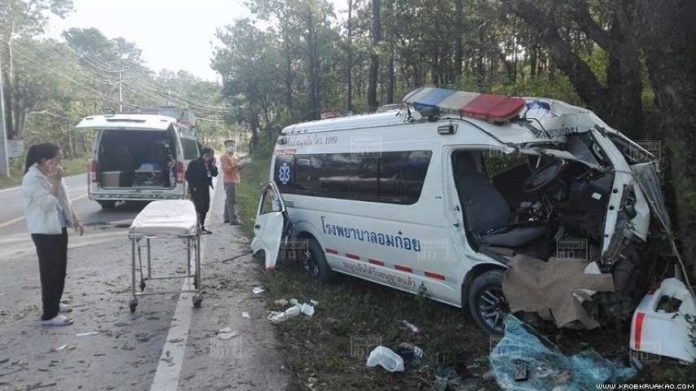 Nurse, motorcyclist killed as ambulance and bike collide in Chiang Mai