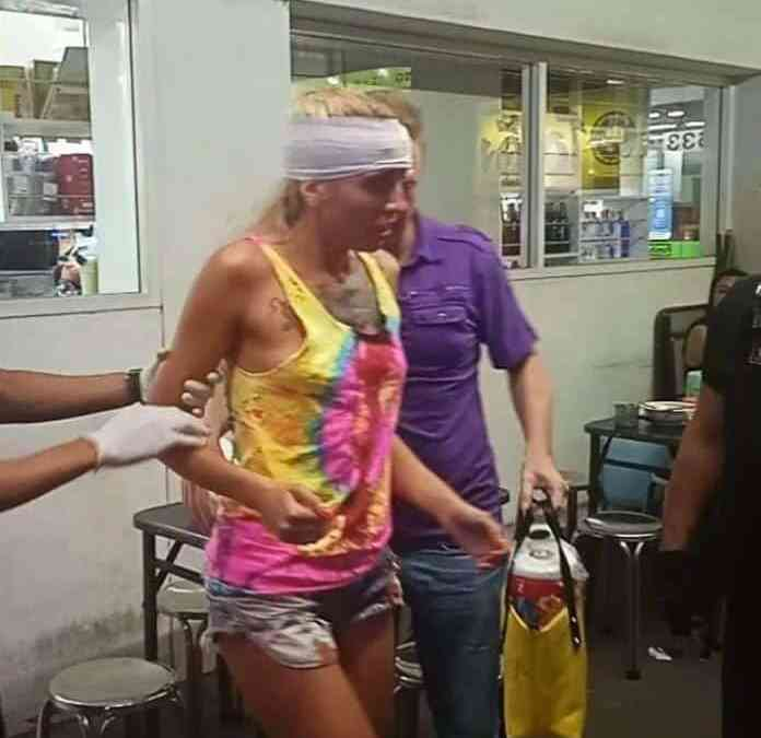 "Remember the Russian Tourist that got ""thrown"" off a baht bus? Turns out she was not…."