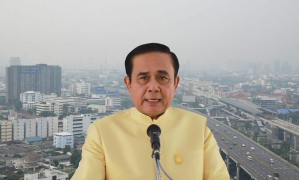 'EVERYONE HAS TO HELP OUT' WITH AIR POLLUTION, PRAYUTH SAYS. The junta leader said Tuesday that controlling the air pollution problem was