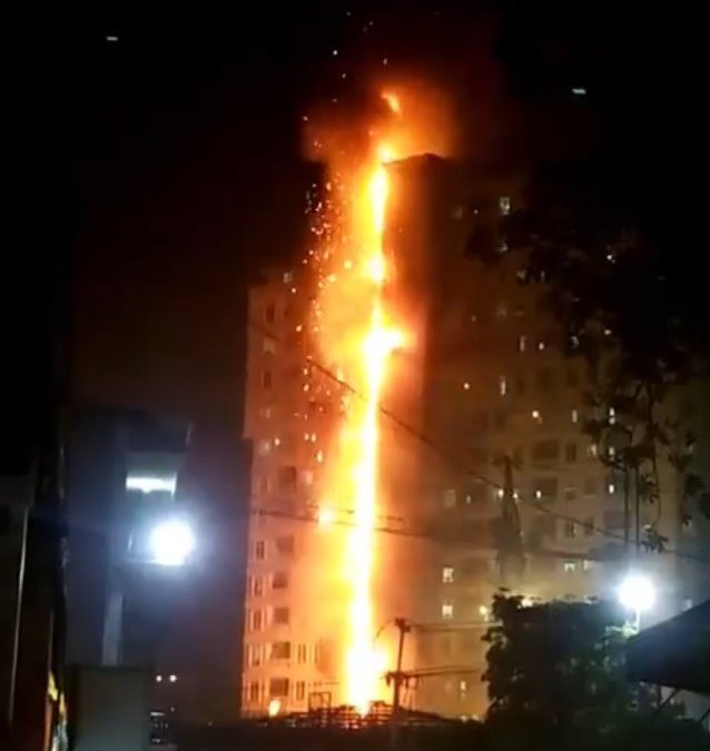 Blaze breaks out at casino building in Cambodia