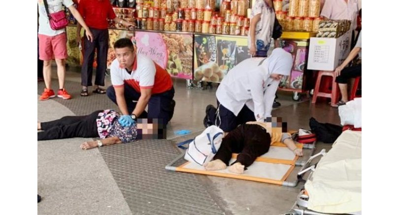 Two elderly women killed as crowd rushes for free food coupons in Malaysia