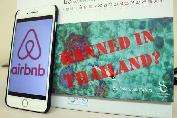 AirBnB short rentals are ILLEGAL in Thailand