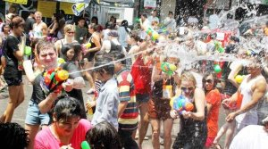 No 'Songkran' on Khao San Road. There will be no splashing of water and any other fun activities on Khao Sarn Road in Bangkok this year as the