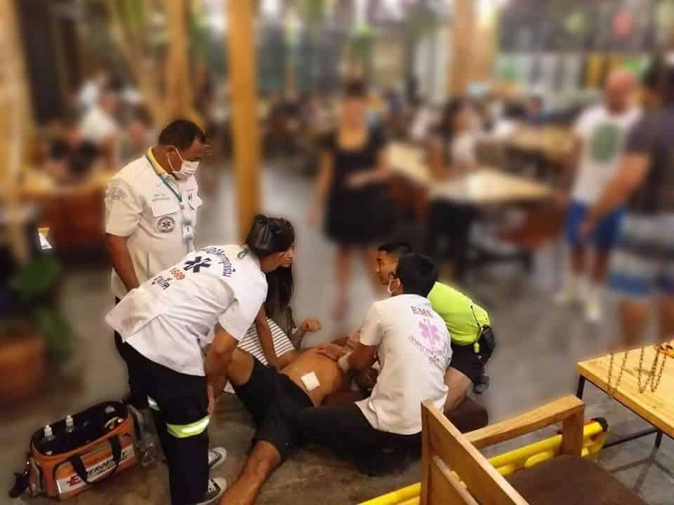British man injured in Phuket stabbing. Police are investigating after a British man was allegedly stabbed by a teenager in front of a restaurant in