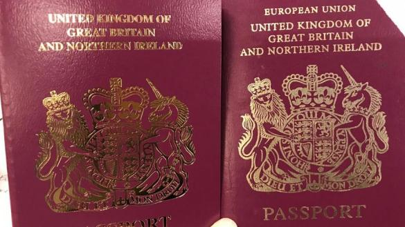 British passports have removed the words 'European Union'. Britain has now begun issuing passports with the words 'European Union'