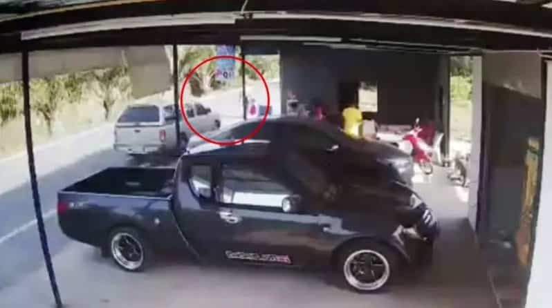 HORROR CCTV: Bangkok hit and run looks like MURDER