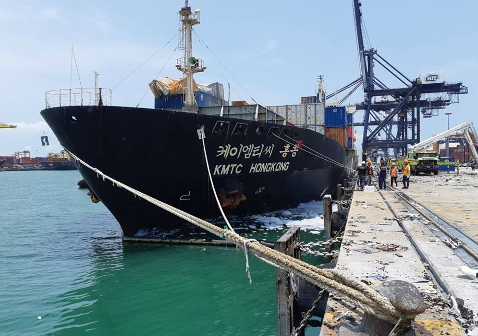 Laem Chabang Port fire damage exceeds Bt100m