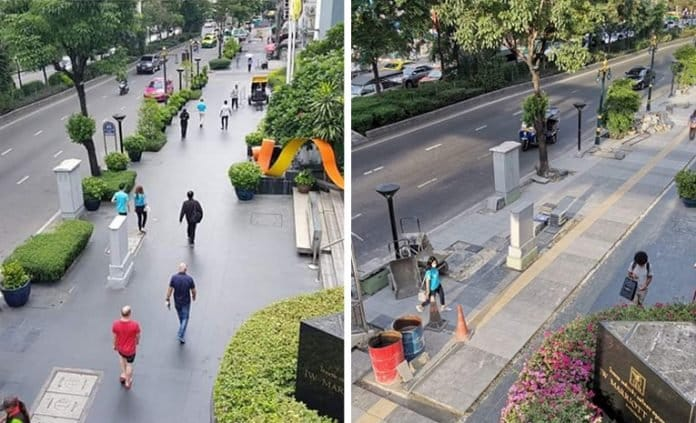 NETIZENS GROAN AT 'IMPROVED' SUKHUMVIT PAVEMENT