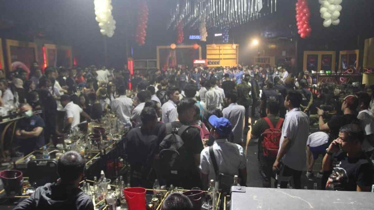 School's out! 120 Bangkok party-goers arrested in drugs raid on pub