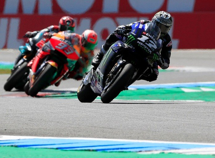 Vinales holds off world champ Marc Marquez to win Dutch GP