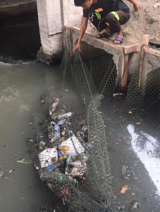 Dozens of phones floating in Bangkok Sewage