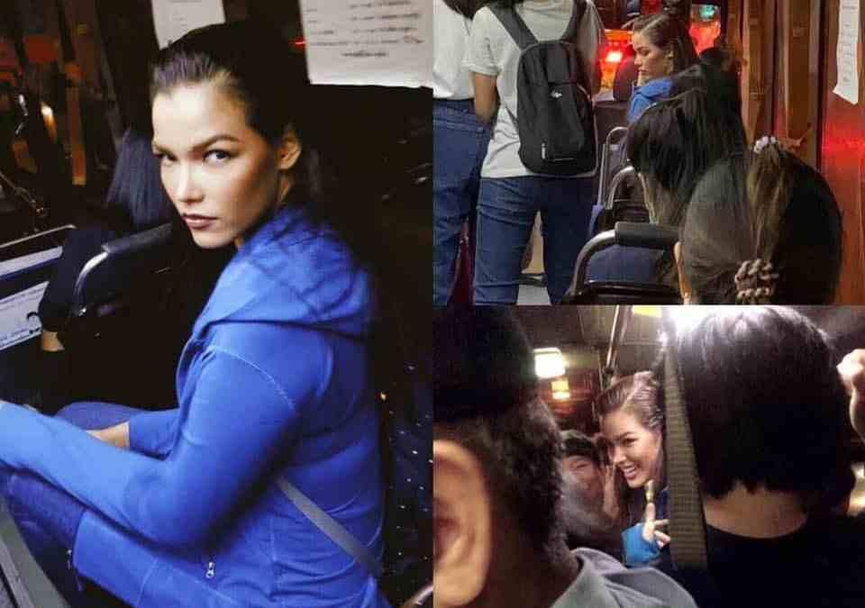 Miss Universe seen on public bus