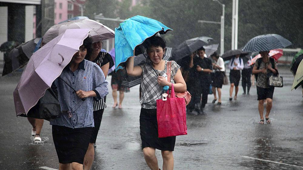 Typhoon kills 5 in North Korea, 3 in South Korea