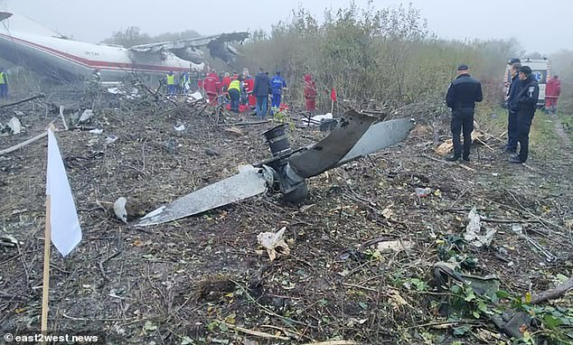 Five people are killed in crash-landing when Spanish cargo plane 'runs out of fuel' over Ukraine