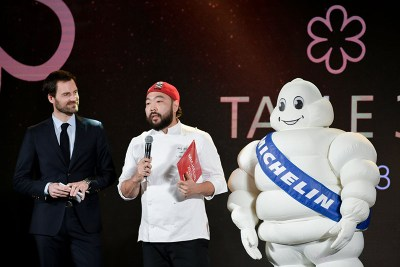 Napol Jantraget of 80/20 receives his Michelin star on Nov. 12, 2019. Photo: Michelin Guide / Facebook