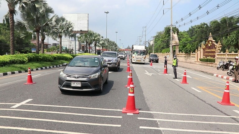 Travel between provinces Thailand strictly controlled