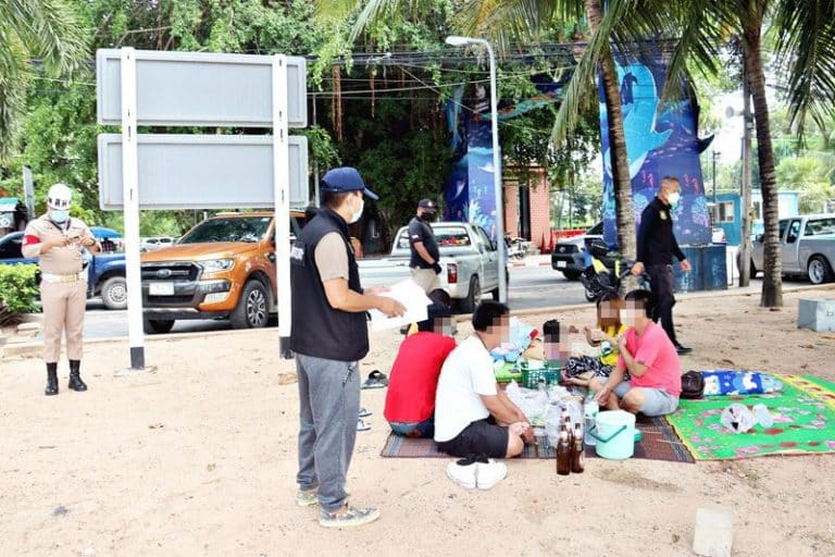 Alcohol beach ends arrest nine people Bang Saray