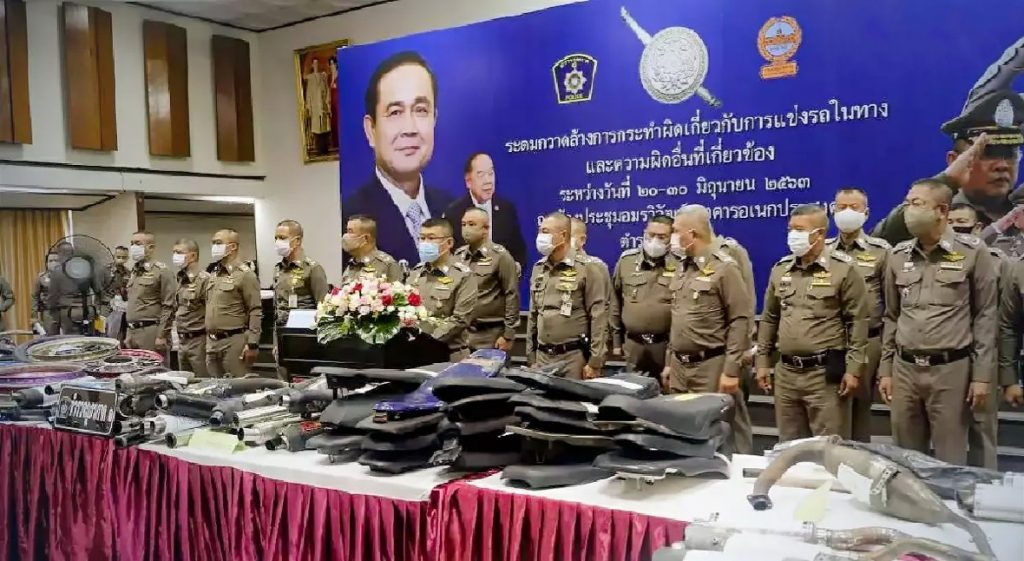 Thai police have seized more 300,000 motorcycles during illegal street racing year