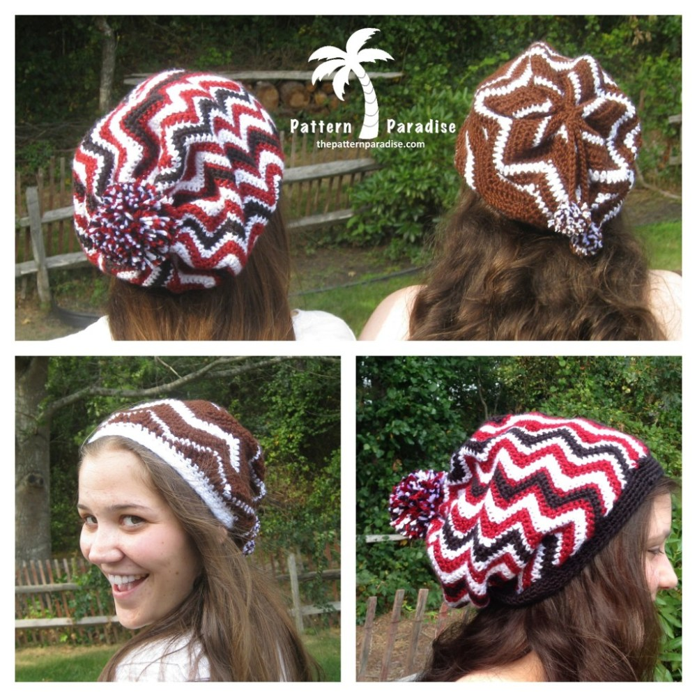 Zig Zag Hat Collage