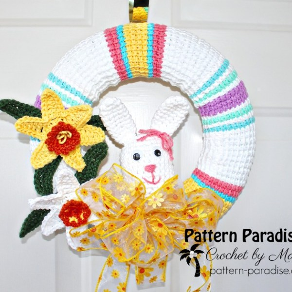 FREE CROCHET PATTERN – Spring Wreath!