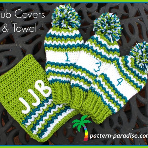 FREE Crochet Pattern – Golf Club Covers and Towel