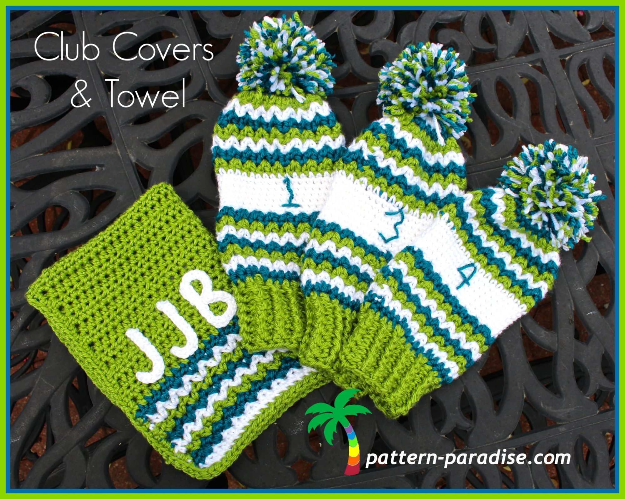 Free Crochet Pattern Golf Club Covers And Towel Pattern Paradise