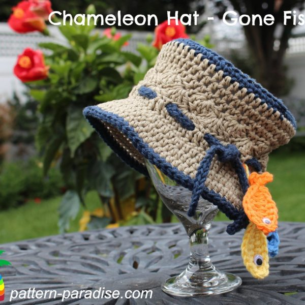 FREE Crochet Pattern – Chameleon Hat – Gone Fishin'