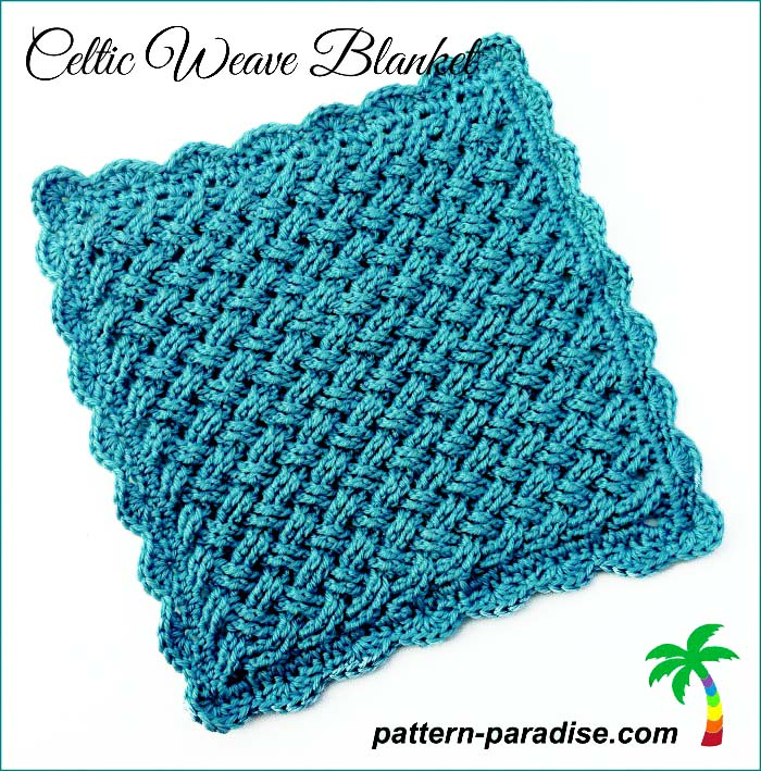 Crochet Pattern Celtic Weave Blanket by Pattern-Paradise.com