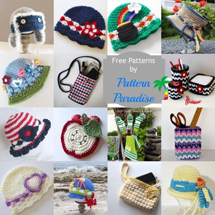 Free Crochet Patterns on Pattern-Paradise.com