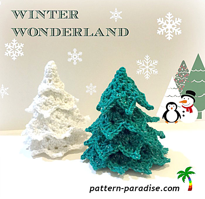 FREE #crochet Pattern Winter Wonderland Tree
