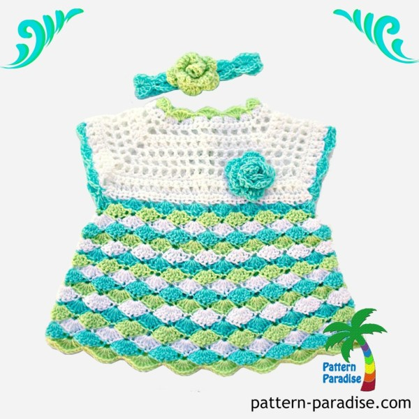 Ocean colors Shelly Dress with logo