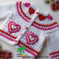 Hearts of Love Sweater by Pattern Paradise