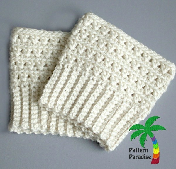 FREE Crochet Pattern – X Stitch Challenge Boot Cuffs
