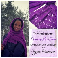 Cascading Lace Shawl by Yarn Obsession