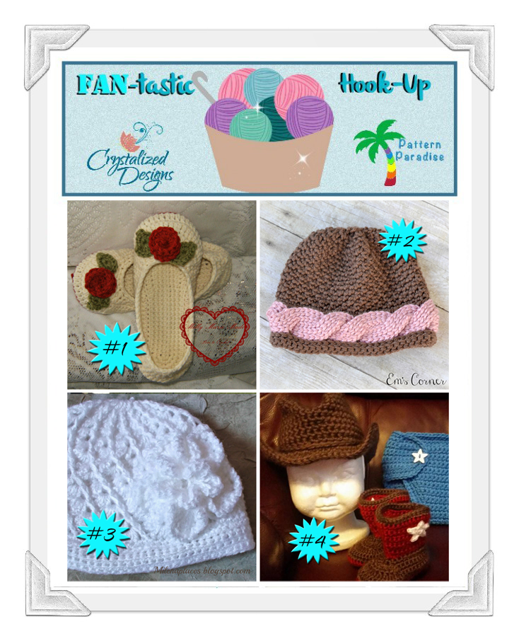Link Up your projects with this fun Link party FAN-tastic Hook-Up #19 hosted by Pattern-Paradise and Crytalized-Designs #crochet #linkparty #patternparadise #crystalizeddesigns