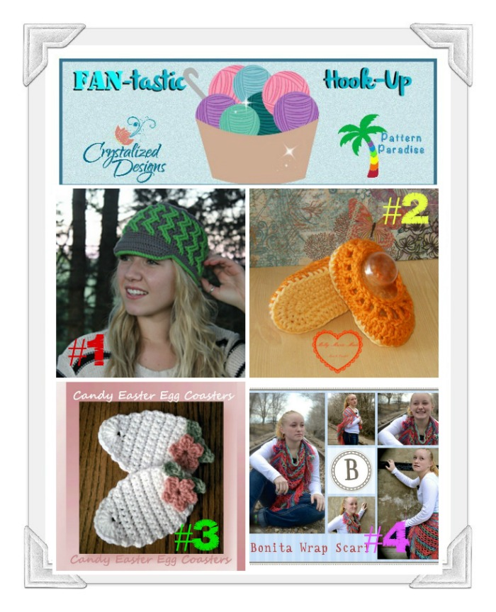FAN-tastic Hook-Up Crochet Link Party #23 by Pattern Paradise & Crystalized Designs
