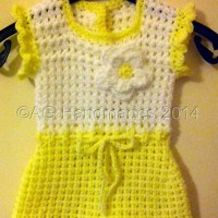 Lemon Sorbet Baby Dress by AG Handmade