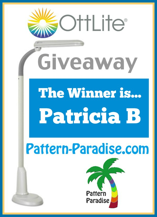 Ottlite Giveaway Winner  by Pattern-Paradise