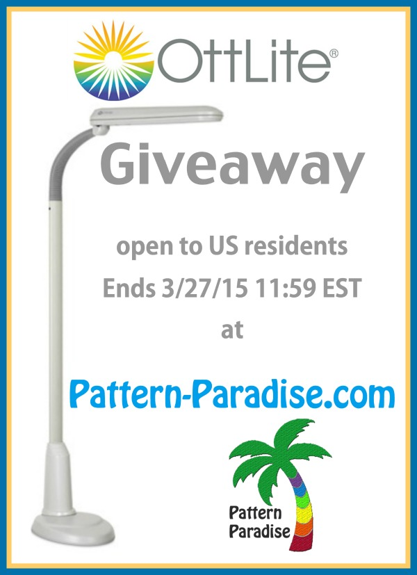 Ottlite Giveaway by Pattern-Paradise