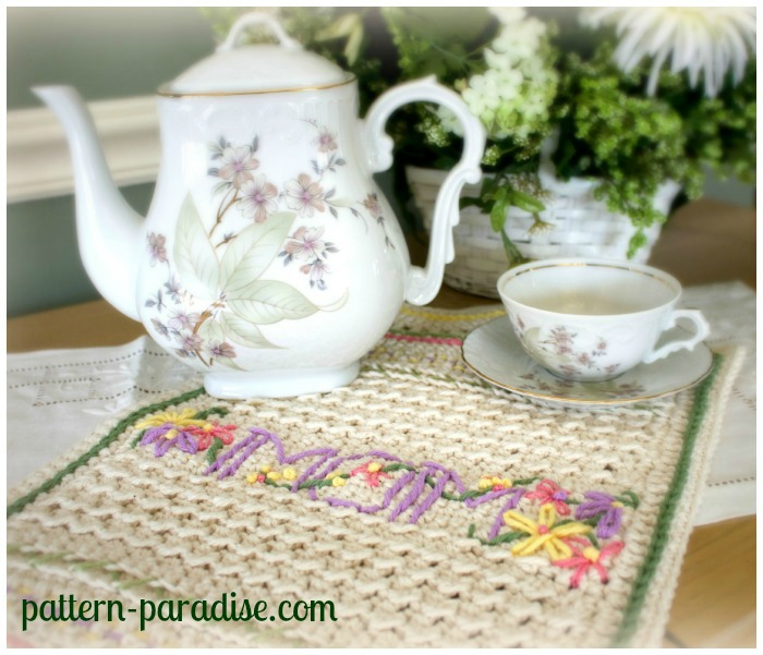 Momogram Dishtowel by Pattern-Paradise.com 2
