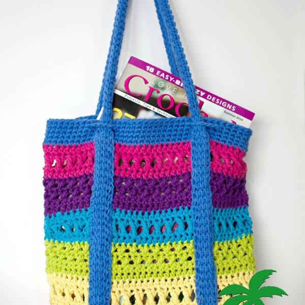 Free Crochet Pattern-X Stitch Challenge, Market Bag