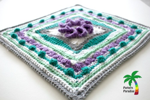 Spring Burst Square Crochet Square by Pattern-Paradise.com