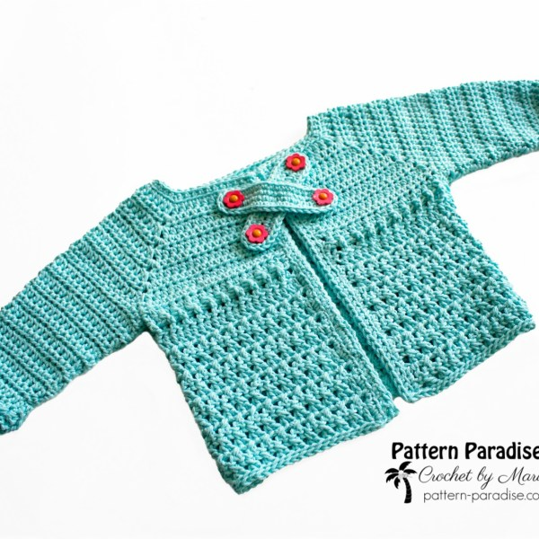 Free Crochet Pattern-X Stitch Challenge, X Marks the Spot Cardi