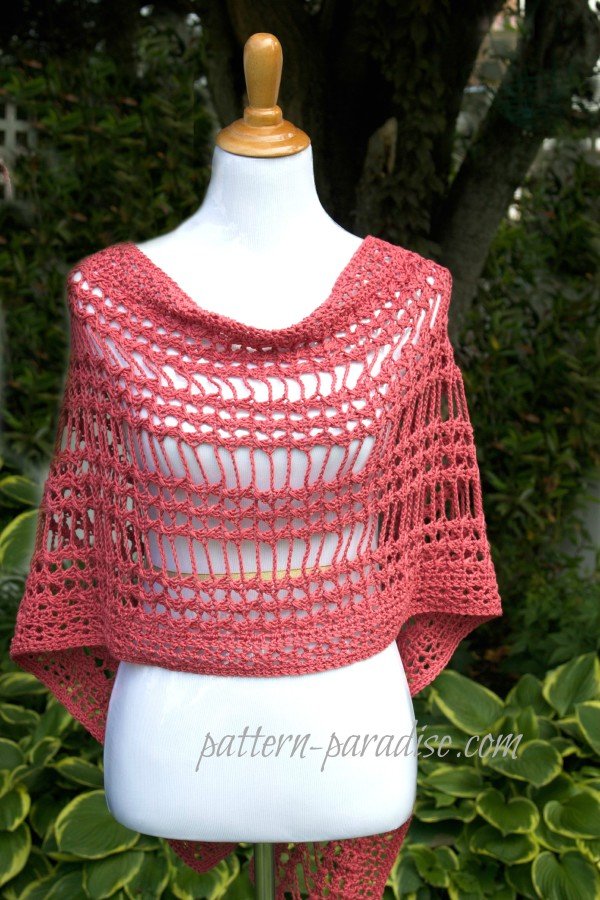 crochet pattern X St Summer Wrap