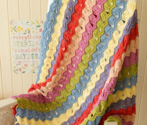 Vintage Fan Ribble Afghan by A Creative Being