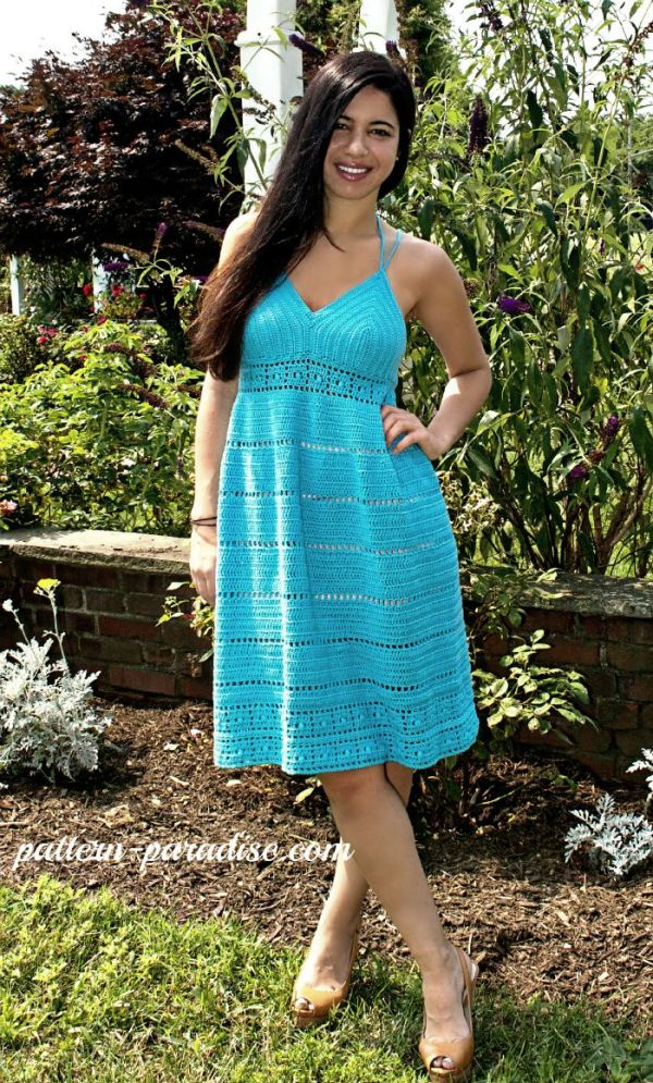 Calypso Kiss Sundress Crochet Pattern by Pattern-Paradise.com