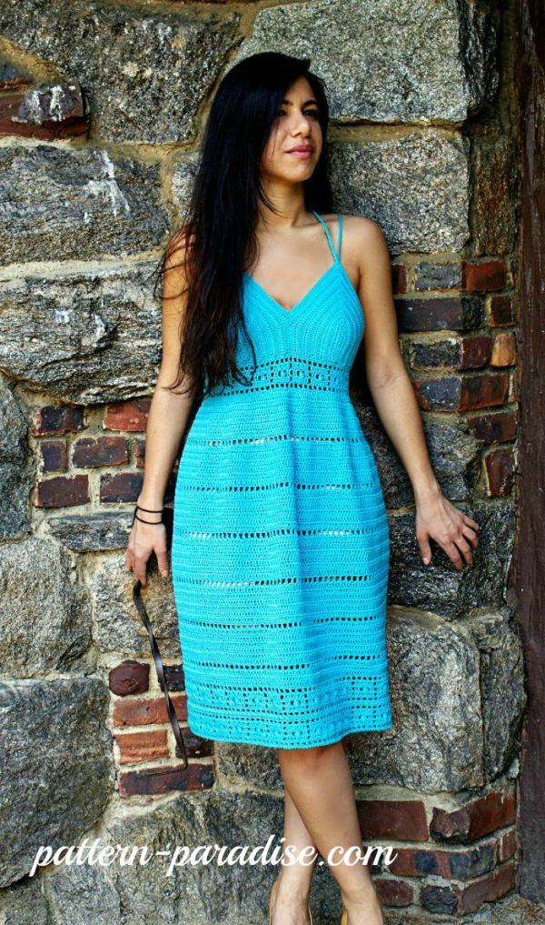 Calypso Kiss Sundress Crochet Pattern by Pattern-Paradise.com
