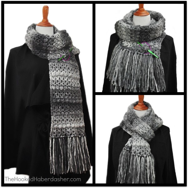 12 Weeks of Christmas Week 1 Scrumptious Scarf by The Hooked Haberdashser